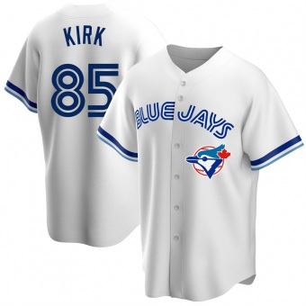 Men's Alejandro Kirk Toronto White Replica Home Cooperstown Collection Baseball Jersey (Unsigned No Brands/Logos)