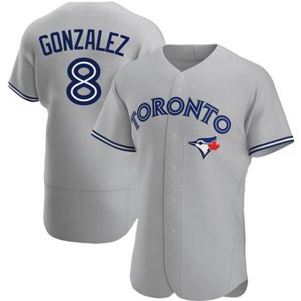 Men's Alex Gonzalez Toronto Gray Authentic Road Baseball Jersey (Unsigned No Brands/Logos)