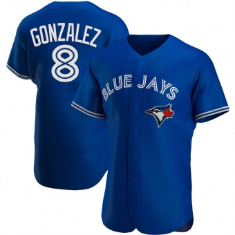 Men's Alex Gonzalez Toronto Royal Authentic Alternate Baseball Jersey (Unsigned No Brands/Logos)