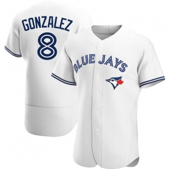 Men's Alex Gonzalez Toronto White Authentic Home Baseball Jersey (Unsigned No Brands/Logos)
