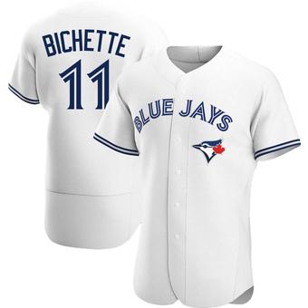 Men's Bo Bichette Toronto White Authentic Home Baseball Jersey (Unsigned No Brands/Logos)