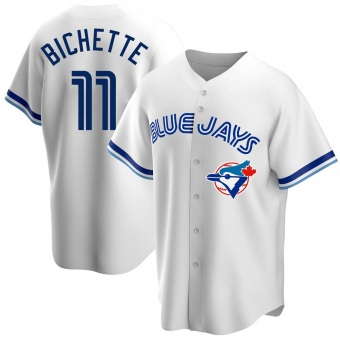 Men's Bo Bichette Toronto White Replica Home Cooperstown Collection Baseball Jersey (Unsigned No Brands/Logos)
