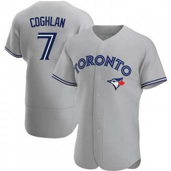 Men's Chris Coghlan Toronto Gray Authentic Road Baseball Jersey (Unsigned No Brands/Logos)