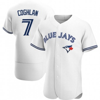 Men's Chris Coghlan Toronto White Authentic Home Baseball Jersey (Unsigned No Brands/Logos)