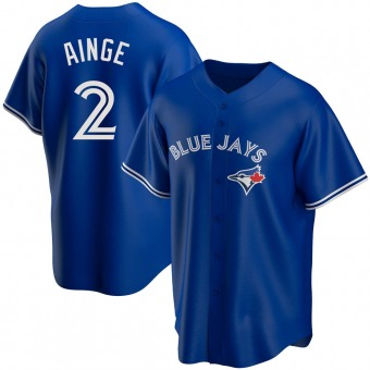 Men's Danny Ainge Toronto Royal Replica Alternate Baseball Jersey (Unsigned No Brands/Logos)