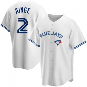 Men's Danny Ainge Toronto White Replica Home Baseball Jersey (Unsigned No Brands/Logos)