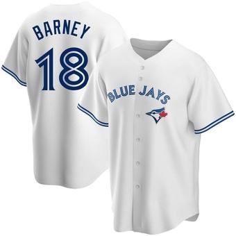 Men's Darwin Barney Toronto White Replica Home Baseball Jersey (Unsigned No Brands/Logos)