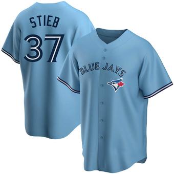 Men's Dave Stieb Toronto Blue Replica Powder Alternate Baseball Jersey (Unsigned No Brands/Logos)