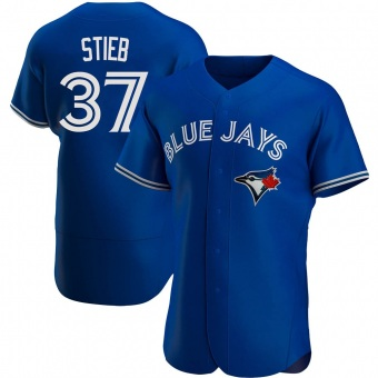 Men's Dave Stieb Toronto Royal Authentic Alternate Baseball Jersey (Unsigned No Brands/Logos)