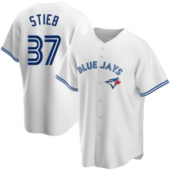 Men's Dave Stieb Toronto White Replica Home Baseball Jersey (Unsigned No Brands/Logos)