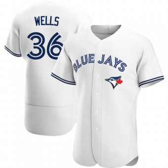 Men's David Wells Toronto White Authentic Home Baseball Jersey (Unsigned No Brands/Logos)