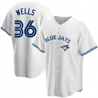 Men's David Wells Toronto White Replica Home Baseball Jersey (Unsigned No Brands/Logos)
