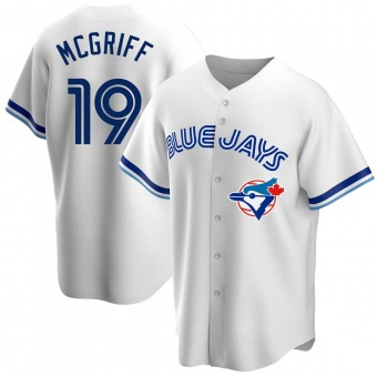 Men's Fred Mcgriff Toronto White Replica Home Cooperstown Collection Baseball Jersey (Unsigned No Brands/Logos)