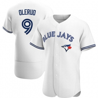 Men's John Olerud Toronto White Authentic Home Baseball Jersey (Unsigned No Brands/Logos)