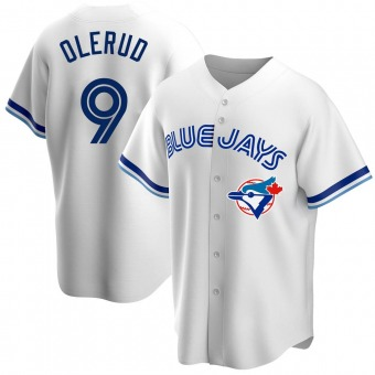 Men's John Olerud Toronto White Replica Home Cooperstown Collection Baseball Jersey (Unsigned No Brands/Logos)