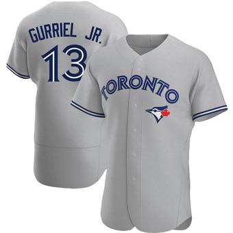 Men's Lourdes Gurriel Jr. Toronto Gray Authentic Road Baseball Jersey (Unsigned No Brands/Logos)