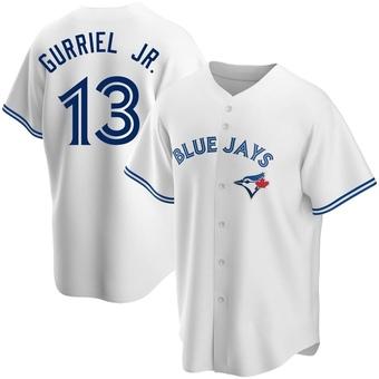 Men's Lourdes Gurriel Jr. Toronto White Replica Home Baseball Jersey (Unsigned No Brands/Logos)
