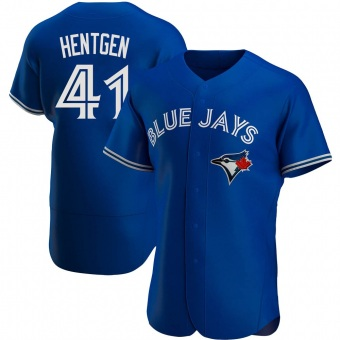 Men's Pat Hentgen Toronto Royal Authentic Alternate Baseball Jersey (Unsigned No Brands/Logos)