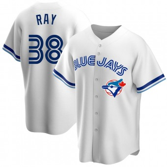 Men's Robbie Ray Toronto White Replica Home Cooperstown Collection Baseball Jersey (Unsigned No Brands/Logos)