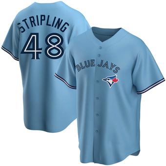 Men's Ross Stripling Toronto Blue Replica Powder Alternate Baseball Jersey (Unsigned No Brands/Logos)