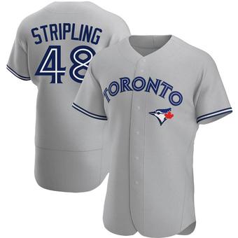 Men's Ross Stripling Toronto Gray Authentic Road Baseball Jersey (Unsigned No Brands/Logos)