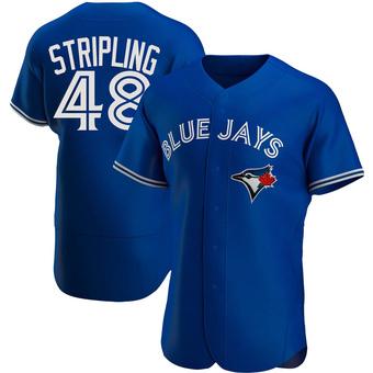 Men's Ross Stripling Toronto Royal Authentic Alternate Baseball Jersey (Unsigned No Brands/Logos)