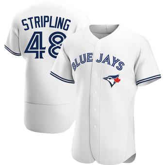 Men's Ross Stripling Toronto White Authentic Home Baseball Jersey (Unsigned No Brands/Logos)