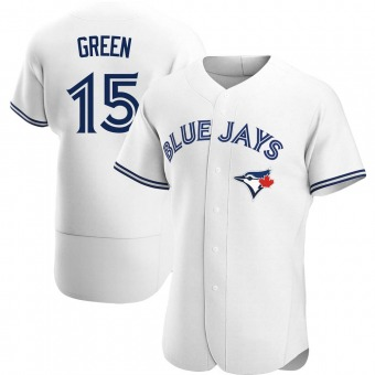 Men's Shawn Green Toronto White Authentic Home Baseball Jersey (Unsigned No Brands/Logos)