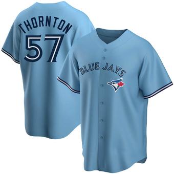 Men's Trent Thornton Toronto Blue Replica Powder Alternate Baseball Jersey (Unsigned No Brands/Logos)
