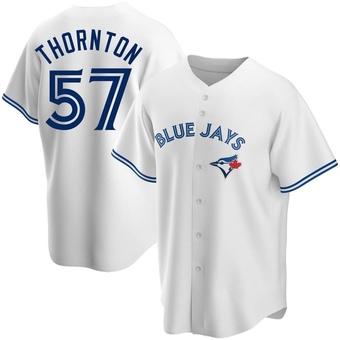 Men's Trent Thornton Toronto White Replica Home Baseball Jersey (Unsigned No Brands/Logos)