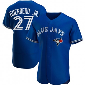 Men's Vladimir Guerrero Jr. Toronto Royal Authentic Alternate Baseball Jersey (Unsigned No Brands/Logos)