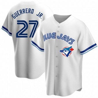 Men's Vladimir Guerrero Jr. Toronto White Replica Home Cooperstown Collection Baseball Jersey (Unsigned No Brands/Logos)