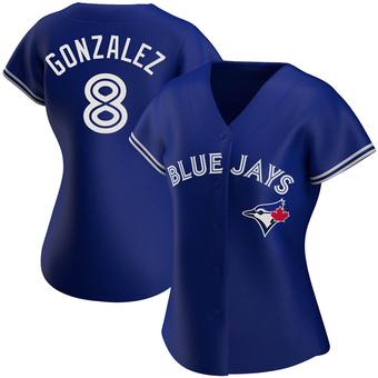 Women's Alex Gonzalez Toronto Royal Authentic Alternate Baseball Jersey (Unsigned No Brands/Logos)