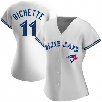 Women's Bo Bichette Toronto White Authentic Home Baseball Jersey (Unsigned No Brands/Logos)