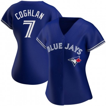 Women's Chris Coghlan Toronto Royal Authentic Alternate Baseball Jersey (Unsigned No Brands/Logos)