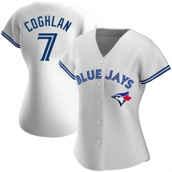 Women's Chris Coghlan Toronto White Authentic Home Baseball Jersey (Unsigned No Brands/Logos)