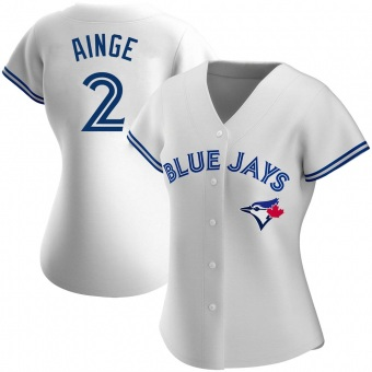 Women's Danny Ainge Toronto White Replica Home Baseball Jersey (Unsigned No Brands/Logos)