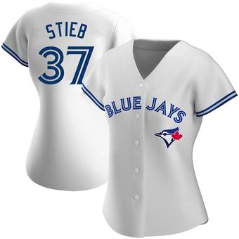 Women's Dave Stieb Toronto White Authentic Home Baseball Jersey (Unsigned No Brands/Logos)