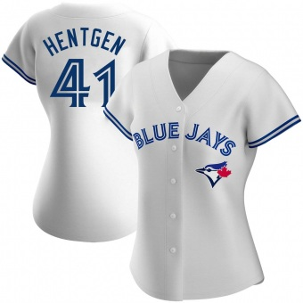 Women's Pat Hentgen Toronto White Replica Home Baseball Jersey (Unsigned No Brands/Logos)
