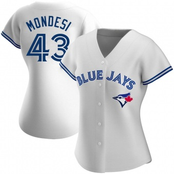 Women's Raul Mondesi Toronto White Authentic Home Baseball Jersey (Unsigned No Brands/Logos)