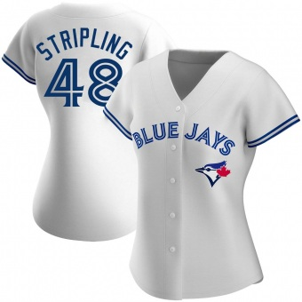 Women's Ross Stripling Toronto White Authentic Home Baseball Jersey (Unsigned No Brands/Logos)
