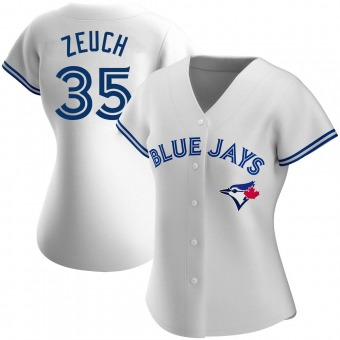 Women's T.J. Zeuch Toronto White Authentic Home Baseball Jersey (Unsigned No Brands/Logos)