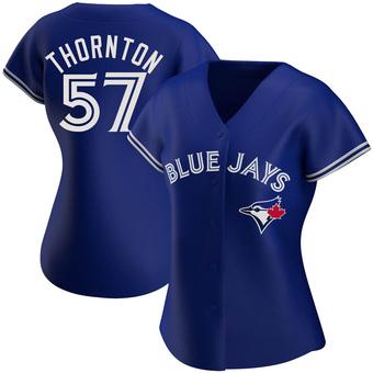 Women's Trent Thornton Toronto Royal Authentic Alternate Baseball Jersey (Unsigned No Brands/Logos)