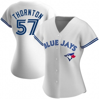 Women's Trent Thornton Toronto White Replica Home Baseball Jersey (Unsigned No Brands/Logos)