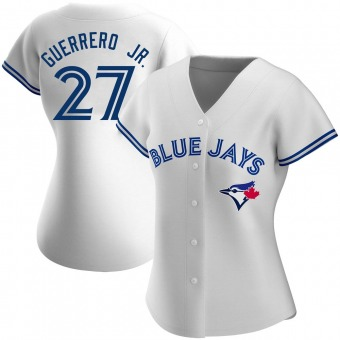 Women's Vladimir Guerrero Jr. Toronto White Authentic Home Baseball Jersey (Unsigned No Brands/Logos)