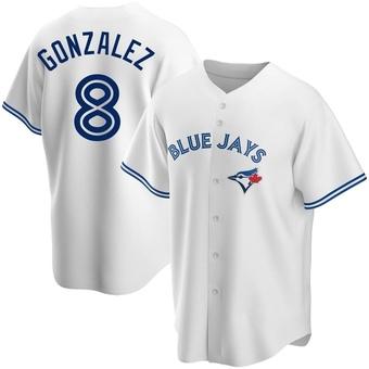 Youth Alex Gonzalez Toronto White Replica Home Baseball Jersey (Unsigned No Brands/Logos)
