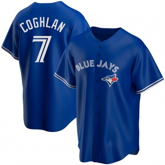 Youth Chris Coghlan Toronto Royal Replica Alternate Baseball Jersey (Unsigned No Brands/Logos)