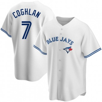 Youth Chris Coghlan Toronto White Replica Home Baseball Jersey (Unsigned No Brands/Logos)