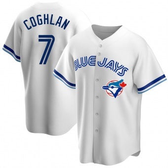 Youth Chris Coghlan Toronto White Replica Home Cooperstown Collection Baseball Jersey (Unsigned No Brands/Logos)