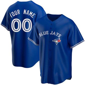 Youth Custom Toronto Royal Replica Alternate Baseball Jersey (Unsigned No Brands/Logos)